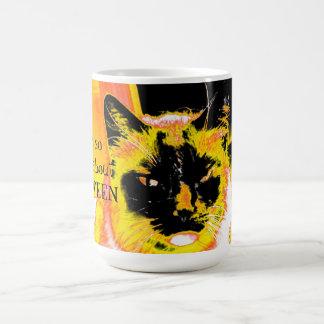 Grumpy About Halloween Cat Classic White Coffee Mug