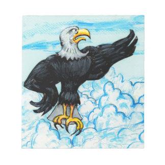 Grumpy American Bald Eagle Memo Note Pad
