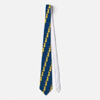 Grumpy and Confused Yellow Cat, Naive Style Neck Tie