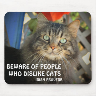 Grumpy Angel and Irish proverb Meme Mouse Pad