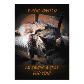 Grumpy Angel is Saving a Seat 4.5x6.25 Paper Invitation Card