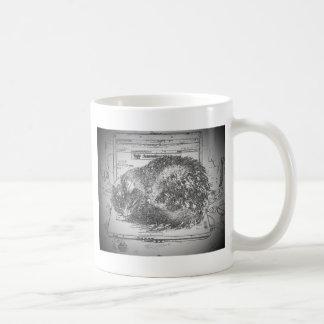 Grumpy Angel Laptop lap cat Coffee Mug