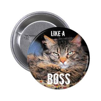 Grumpy Angel, Like A Boss 2 Inch Round Button