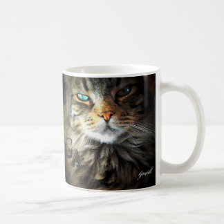 Grumpy Angel Pretty Maine Coon face Coffee Mug