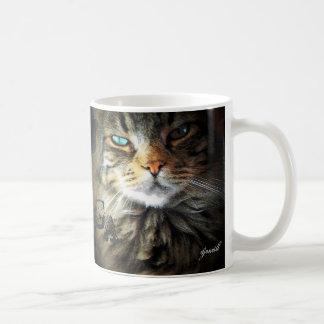 Grumpy Angel Pretty Maine Coon face Classic White Coffee Mug