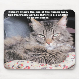 """Grumpy Angel with """"Age"""" Quote Mouse Pad"""