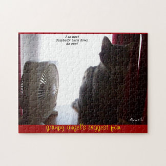 Grumpy Angel's biggest fan Jigsaw Puzzle