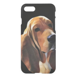 Uncommon iPhone 7 Clearly™ Deflector Case with Basset Hound Phone Cases design