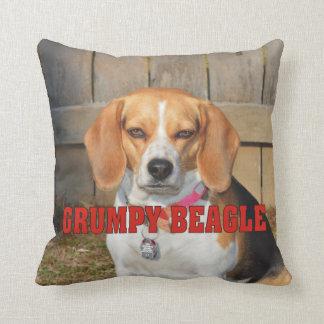 Grumpy Beagle Throw Pillow