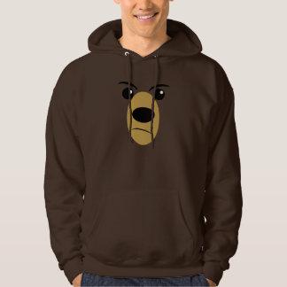 Grumpy Bear Face Hooded Sweatshirt