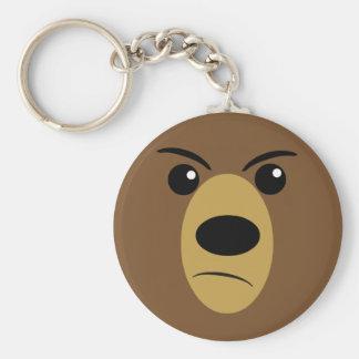 Grumpy Bear Face Keychain