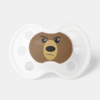 Grumpy Bear Face Pacifier