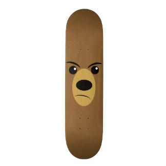 Grumpy Bear Face Skateboard Deck