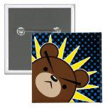 Grumpy Bear Roar 2 Inch Square Button
