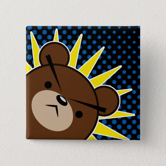 Grumpy Bear Roar Pinback Button