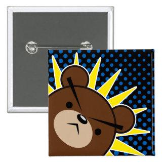 Grumpy Bear Roar Pinback Button