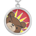 Grumpy Bear Roar Round Pendant Necklace