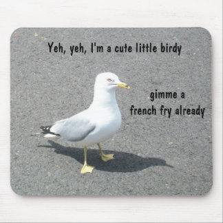 Grumpy Begger Seagull Animal Meme Mouse Pad