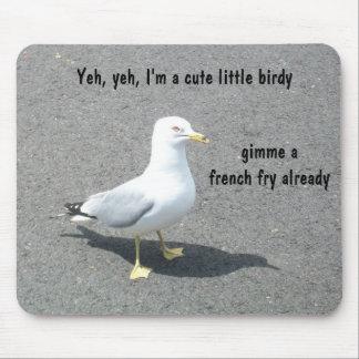 Grumpy Begger Seagull Mouse Pad