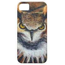 Grumpy Big Ear Owl iPhone SE/5/5s Case