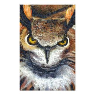 Grumpy Big Ear Owl Stationery