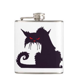 Grumpy Black Cat Flask