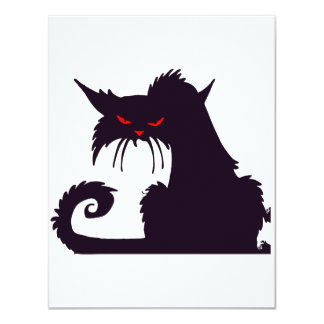 Grumpy Black Cat Invitations