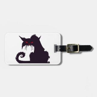 Grumpy Black Cat Luggage Tags