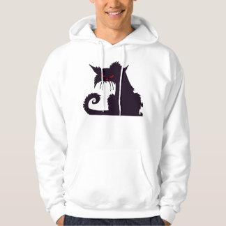 Grumpy Black Cat Mens Hoodie