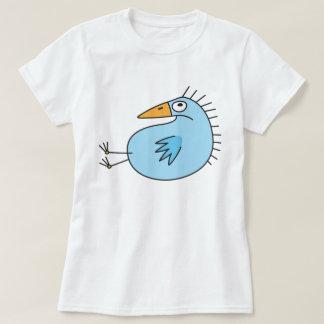 Grumpy blue bird cute animal cartoon shirt