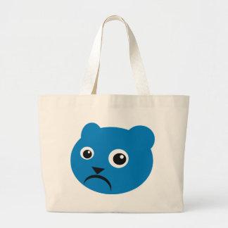 Grumpy Blue Teddy Bag