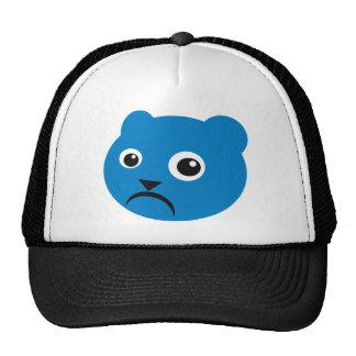 Grumpy Blue Teddy Mesh Hats
