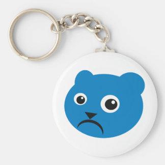 Grumpy Blue Teddy Keychains