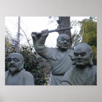 Grumpy Buddha Print