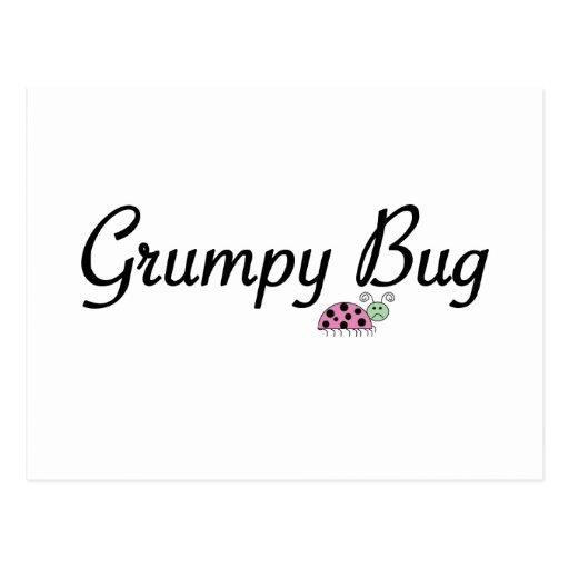 Grumpy bug postcard