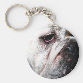 Grumpy Bulldog Keychain
