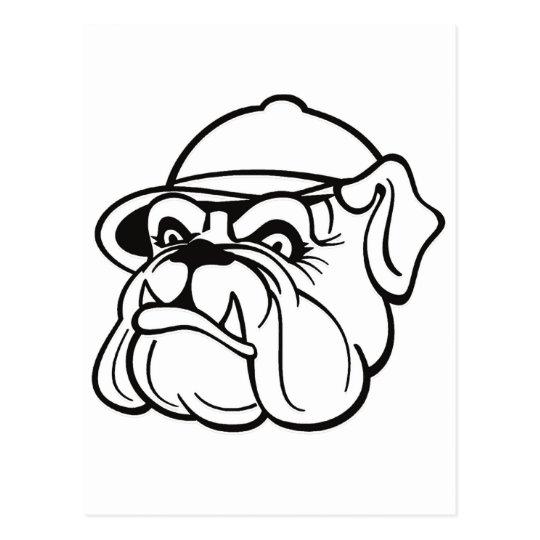 Grumpy Bulldog Postcard
