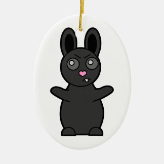 Grumpy Bunny Has Beef with YOU Ceramic Ornament