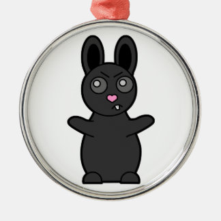 Grumpy Bunny Has Beef with YOU Metal Ornament