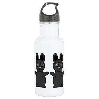 Grumpy Bunny Has Beef with YOU Water Bottle