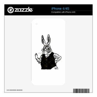 Grumpy Bunny iPhone 4S Decal