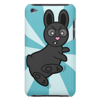 Grumpy Bunny Knows Kung Fu - Blue Barely There iPod Case