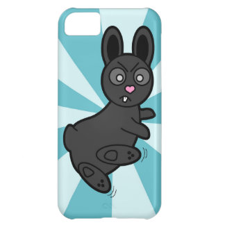 Grumpy Bunny Knows Kung Fu - Blue iPhone 5C Cover