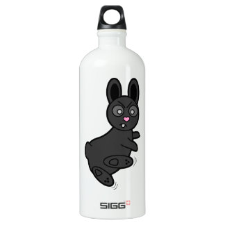Grumpy Bunny Knows Kung Fu Water Bottle