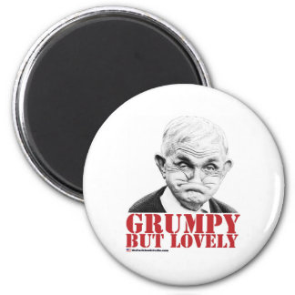Grumpy But Lovely 2 Inch Round Magnet