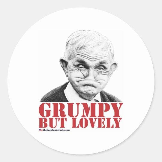 Grumpy But Lovely Classic Round Sticker