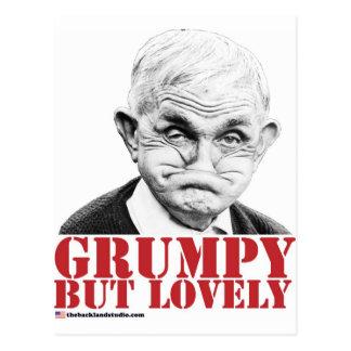 Grumpy But Lovely Postcard