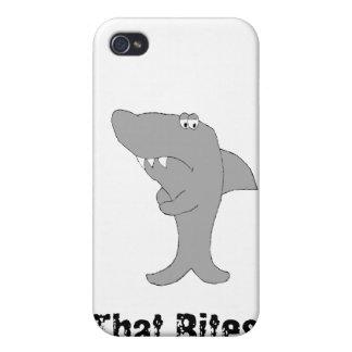 Grumpy Cartoon Shark iPhone 4/4S Cases