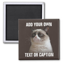 Grumpy Cat - Add your own text Magnet
