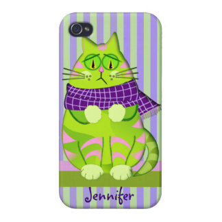 Grumpy cat and Custom Name Cases For iPhone 4